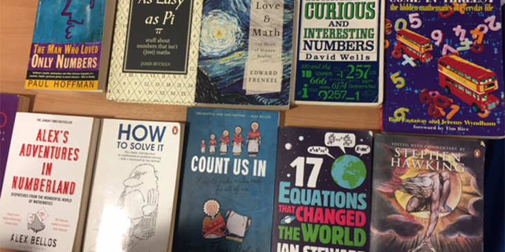 assortment of books on maths